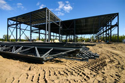 Steel frame construction for buildings, factories, bridges and so much more